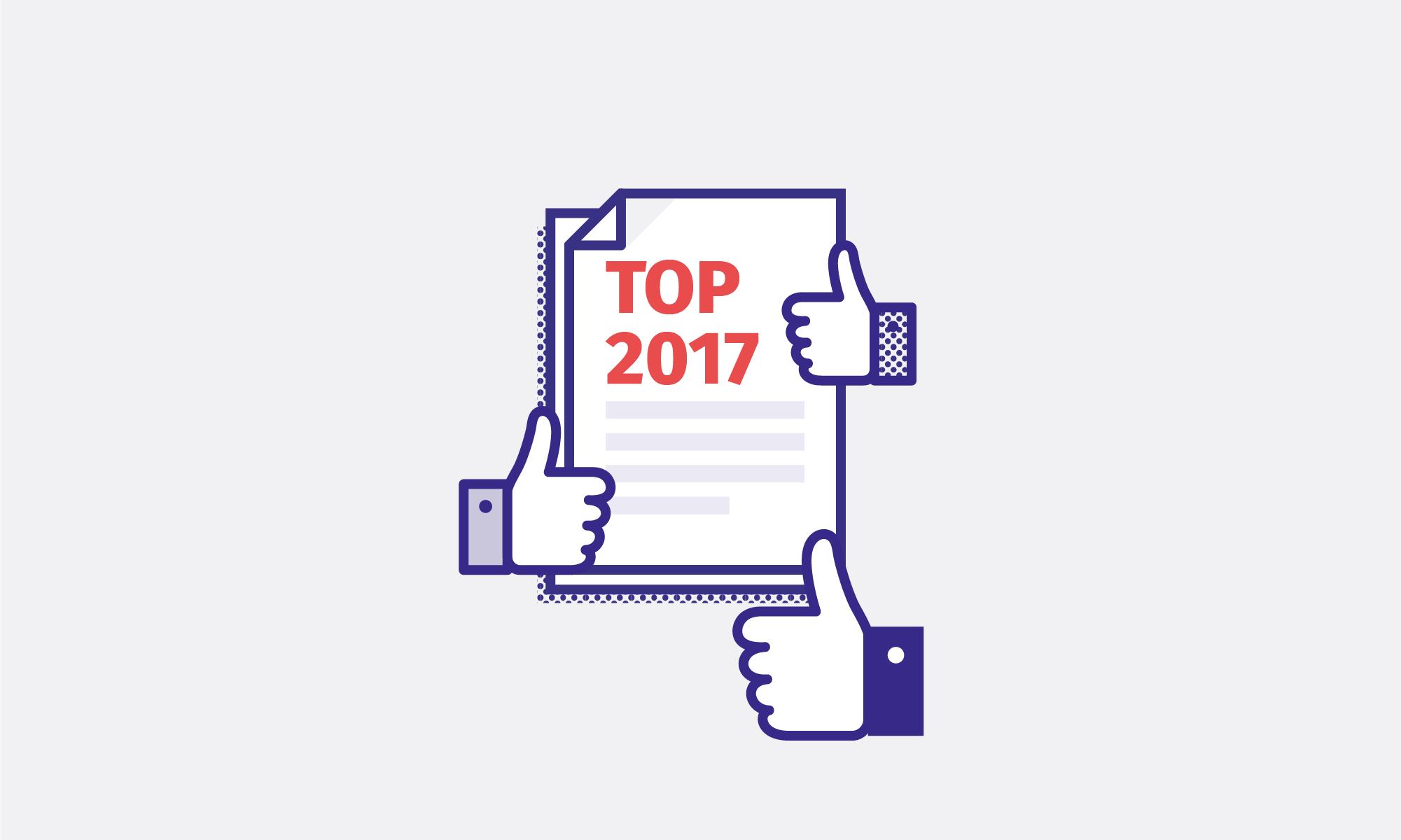 Toppen af bloggen - mest læste posts på Junes blog i 2017